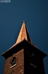 Knox Church Steeple (djhsilver) Tags: urban detail brick tower church architecture bay fort masonry william historic steeple copper knox neogothic thunder neighbourhood fortwilliam thunderbay pruden manse