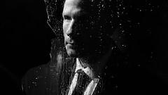 King of fools (Donald Palansky Photography) Tags: me window rain reflections sony alpha strobe alienbees strobist donaldpalansky sonyslta99v