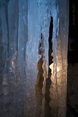 Behind the falls (Thankful!) Tags: winter ice night waterfall falls icicles icecave niagaraescarpment rockwayconservationarea