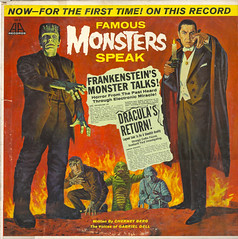 FAMOUS-MONSTERS-SPEAK (The Holding Coat) Tags: dracula frankenstein famousmonsters aarecords gabrieldell