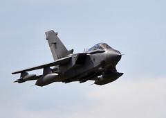 Tornado (Bernie Condon) Tags: plane flying european aircraft military attack jet strike bomber tornado raf vg warplane ids panavia swingwing