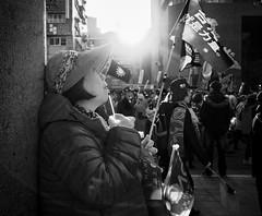hope springs eternal (dr.milker) Tags: blackandwhite bw election noiretblanc flag politics rally taiwan taipei     kmt   negroyblanco    rooseveltrd