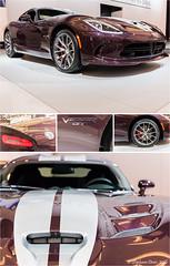 Dodge Viper SRT GTC 2016 (stefdenis3006) Tags: voiture triptyque vhicules salondelautodemontral photostypedetraitement vennementexpositionmusespectacle dodgevipersrtgtc2016
