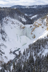 Grand Canyon of the Yellowstone - Lower Falls (2016-02-03 1611) (bechtelsf) Tags: winter snow landscape waterfall nationalpark nikon outdoor yellowstone wyoming lowerfalls grandcanyonoftheyellowstone yellowstonegrandcanyon