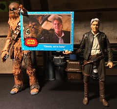 Chewie we're home (chevy2who) Tags: 6 toy cards starwars inch action 7 figure falcon vii chewbacca topps hasbro hansolo episode7 blackseries starwarsvii starwars7 chewiewerehome