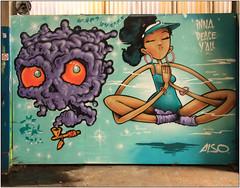East End Street Art (Mabacam) Tags: streetart london yoga wall painting graffiti stencil mural paint peace wallart urbanart shoreditch freehand publicart aerosolart spraycanart stencilling eastend 2016 urbanwall also