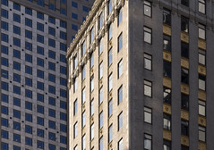 Crown Building (josullivan.59) Tags: park nyc light shadow wallpaper panorama usa newyork abstract detail texture geometric yellow architecture buildings gold day pattern skyscrapers unitedstates manhattan january clear midtown historical lightanddark artisitic 2016 crownbuilding nicelight 3exp canon6d tamron150600