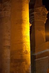 Kom Ombo Temple Column with Hieroglyphs (erik_madsen1) Tags: history temple ancient god egypt egyptian elder crocodile aswan kom ombo hieroglyphs komombo sobek horeoris