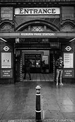 Kilburn Park Station(1) (S.R.Murphy) Tags: city uk greatbritain england urban blackandwhite bw building london monochrome architecture mono unitedkingdom britain streetphotography londonunderground kilburn socialdocumentary undergroundstation kilburnparkstation stuartmurphy lightroomcc fujifilmx100t