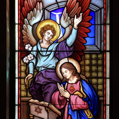 Sacred Heart Stained Glass (ioensis) Tags: art gabriel church glass catholic angle heart mary mo stained missouri sacred february unlimited annunciation eureka 2016 jdl ioensis 48811bjohnlangholz2016