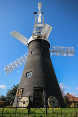Holgate Windmill, York, Easter 2016 - 6 (nican45) Tags: york sky slr mill windmill canon easter march spring yorkshire roundabout sails sigma wideangle millstone sail dslr 1020mm 1020 northyorkshire holgate fantail 2016 hwps 1020mmf456exdc holgatewindmill eos70d 25march2016 25032016