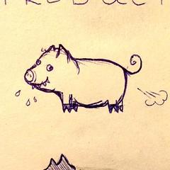 Everybody cheer the happy farting pig. Hooray! (borianag) Tags: animal animals pig sketch funny humor cartoon sketching pigs fart sketches farting funnypig cartoonpig instagram ifttt