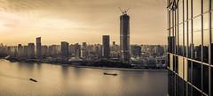 (Rob-Shanghai) Tags: china leica city glass river hotel cityscape shanghai 28mm refection huangpu puxi kempinski m240
