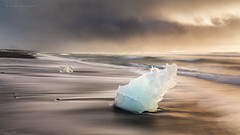 Jokulsarlon Ice Beach (Mark McLeod 80) Tags: winter snow ice iceland jokulsarlon icebeach jokulsarlonlagoon markmcleod lee09softgrad lee12nd markmcleodphotography