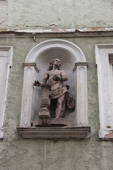 Figure of Christ at a House at Hauptstrae 67 in Zell am Main (Bjrn S...) Tags: bayern bavaria franconia franken zell baviera franconie bavire hauptstrase zellammain zellamain hauptstrase67 geiselchristus