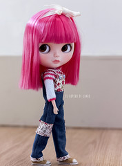Overalls and Sweater for Blythe doll - Peto y Jersey para muñeca Blythe