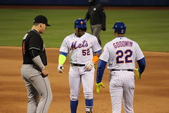 Yoenis Cspedes getting a hit for the NY Mets (Hazboy) Tags: new york nyc ny game sports field sport baseball queens april mets mlb citi flushing beisbol 2016 cspedes hazboy hazboy1 yoenis