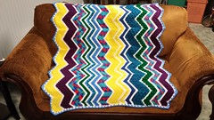 Lisa Baker (The Crochet Crowd) Tags: game stitch right blanket afghan throw crochetblanket thecrochetcrowd stitchisright