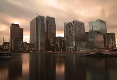 Canary Wharf (Sarah Marston) Tags: longexposure london clouds boats sony april alpha canarywharf citi 2016 a65 hscb