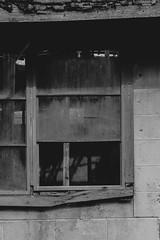 Abandoned (Kristina Leszczak) Tags: bw abandoned broken window glass outside outdoor brokenwindow fallingapart