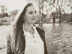Kim Lobbezoo 5 (M van Oosterhout) Tags: portrait people woman sun lake holland cute netherlands girl beautiful face fashion female clouds model pretty photoshoot modeling stunning editorial
