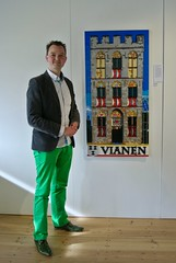 The proud builder and his work (P@u! +ox) Tags: art museum lego cityhall mosaic exhibition stedelijk stadhuis vianen 2016 mozaek