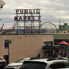 Seattle (dalecruse) Tags: seattle street city trip vacation sky building nature buildings mar us washington cityscape unitedstates market pikeplacemarket pikeplace lightroom