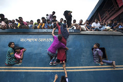 People travel for Celebrate Eid ul-Fitr in Bangladesh (K M Asad) Tags: travel people home festival train death airport dangerous village risk muslim eid rail railwaystation journey labour dhaka bangladesh overload crowded garments homebound eidulfitr garmentsworker loadedtrain