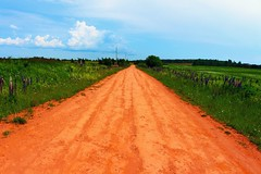 Red Roads - Explore (laurakirkpatrick) Tags: road red summer canada nature canon landscape sand ngc princeedwardisland pei