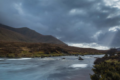Vivid evening light (rdhphotos) Tags: scotland sutherland eveninglight riverdionard beinnspionnadh