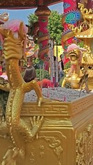 Dragons Over the Incense (Shane Hebzynski) Tags: thailand gold shrine dragon religion chinese buddhism incense naja chonburi bangsaen