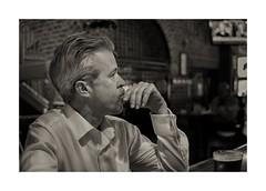 Reminiscing (sorrellbruce) Tags: portrait bw sepia alone fuji memories monochromatic thoughts thinking pensive lonely lostinthought reminiscent neatimage informalportrait blackandwhiteportrait lr6 photoninja colorefexpro silverefexpro fujinon35mmf2 fujixt1 petebridgwoodsharpeningpresets