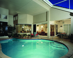Royal Troon Lane Home Plan by The Sater Design Collection (Sater Design Collection) Tags: pool verandah