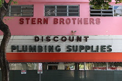 One Last Shot Of Stern Brothers Neon Sign (Phillip Pessar) Tags: sign retail store neon brothers plumbing demolition stern