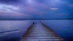 Only blue (Tra Te E Me (TTEM)) Tags: blue sky water photoshop eau bleu ciel hdr ponton tang thau lumixfz1000