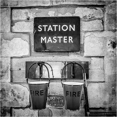 Kirby Stephen East Station . (wayman2011) Tags: uk bw signs cumbria canon5d railways dales pennines stations lightroom wayman2011