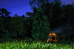 Full moon on the wooden cabin (E-San Photo) Tags: wood friends brazil nature brasil wooden cabin sony moonlight mystic slt naturally a77 sonz a77mii