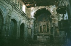 Abandoned church - Romagnano al Monte (Alessandra Papagni) Tags: city italy building abandoned film me church architecture analog 35mm vintage photography 50mm al scary italian italia arch campania pentax south ghost country edificio altar iso chiesa nave 200 roll epson rolls mm analogue archway monte fotografia 50 arcata 35 dm arco destroyed fantasma architettura italie salerno analogica sud ruined citt italiana distrutto inquietante analogic altare paese paradies pentaxme pellicola paura pellicule italienne navata abbandonata macerie romagnano rovinata ashai v370