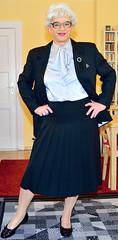 Ingrid021827 (ingrid_bach61) Tags: skirt suit mature pleated kostm faltenrock bowblouse schleifenbluse