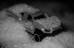 Bored 22-04-2016 SM-1 (Pure Natural Ingredients) Tags: blackandwhite white playing black macro car truck toy miniature nikon bored sugar boring hotwheels zwart wit f28 sigma105mm d7000