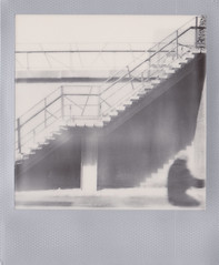 shadows I (polaroid.nawan) Tags: street polaroid sx70 photography photo shadows sphere instant ip bwsx70 impossibleproject