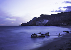 The Cat in Blue (jlpezrecio) Tags: sunset beach andaluca spain sunsets playa almera cabodegata