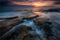 Colour of the Afterglow (Darkelf Photography) Tags: ocean sunset seascape beach clouds canon landscape photography evening coast rocks dusk indian australia burns filter shore perth western maciek 2016 1635mm darkelf exposureblend gornisiewicz 5diii