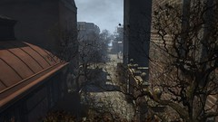 Where Pigeons Dare (alexandriabrangwin) Tags: world street old city church overgrown buildings computer early 3d graphics rustic charm cobblestones secondlife virtual lane 1900 russian narrow cgi stpetes alexandriabrangwin