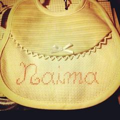 I preparativi continuano.. #naima #bavaglino #puntocroce #aspettandote #quasipronta (LeaMargot) Tags: square squareformat rise iphoneography instagramapp uploaded:by=instagram