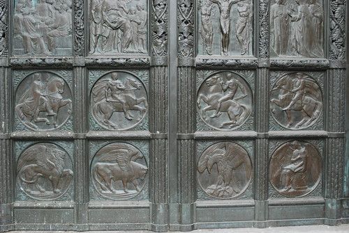 Cathedral of St John the Divine - Bronze Doors Detail