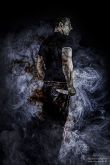 dangerous minds (dargun) Tags: portrait danger studio nebel surreal personen composing bildbearbeitung selbstauslöser