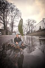Raft 8 (Glesgaloon) Tags: portrait photoshop manipulated flood surreal aberdeen trickphotography selfie