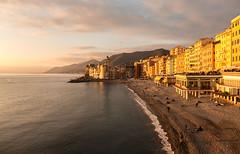 Der Strand von Camogli, Ligurien