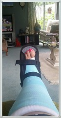 In the Blue (Jocey K) Tags: leg cast brake stressfacture